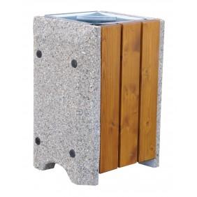 Kosz betonowo-drewniany kod: 149