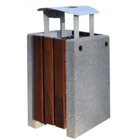 Kosz betonowo-drewniany kod: 152