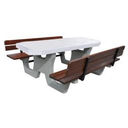 Betonowy stół parkingowy kod: 504B z op.