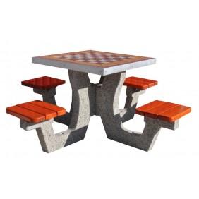Betonowy stół do gry w szachy/chińczyka kod: 505