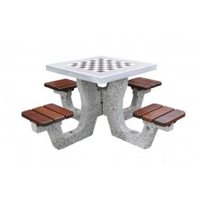 Betonowy stół do gry w szachy/chińczyka kod: 505B