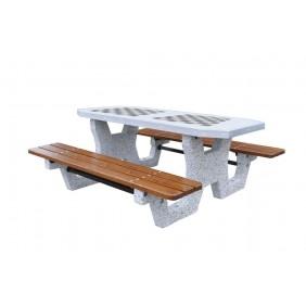 Betonowy stół do gry w szachy/chińczyka kod: 503B