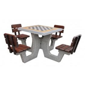 Betonowy stół do gry w szachy/chińczyka kod: 513