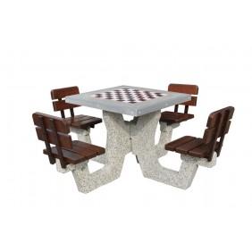 Betonowy stół do gry w szachy/chińczyka kod: 513B