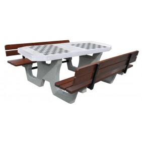 Betonowy stół do gry w szachy/chińczyka kod: 519B