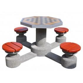 Betonowy stół do gry w szachy/chińczyka kod: 508