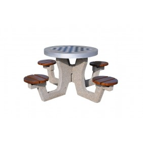 Betonowy stół do gry w szachy/chińczyka kod: 520