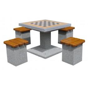 Betonowy stół do gry w szachy/chińczyka kod: 514