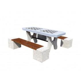 Betonowy stół do gry w szachy/chińczyka kod: 511B