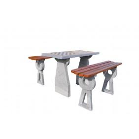 Betonowy stół do gry w szachy/chińczyka kod: 522