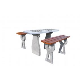 Betonowy stół do gry w szachy/chińczyka kod: 522B