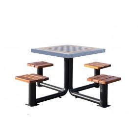 Metalowy stół do gry w szachy/chińczyka kod: 523