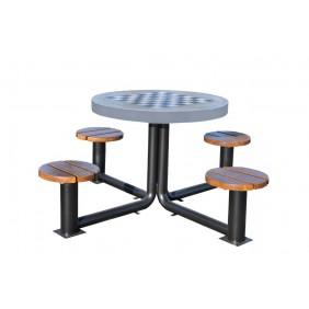 Metalowy stół do gry w szachy/chińczyka kod: 524