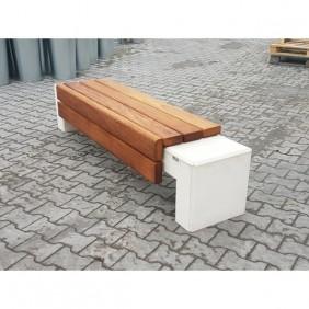 Ławka betonowa kod: 465B biały beton