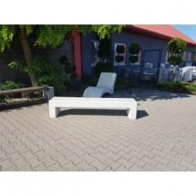 Ławka betonowa kod: 465 biały beton