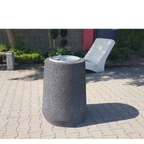 """Kosz betonowy """"Beczka wysoka"""" kod: 154"""
