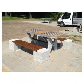Betonowy stół do gry w szachy/chińczyka kod: 511