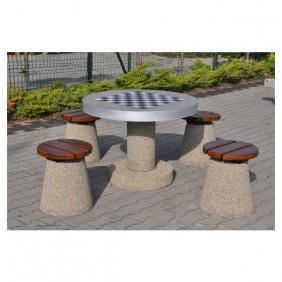 Betonowy stół do gry w szachy/chińczyka kod: 521