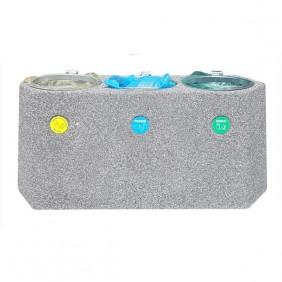 Kosz betonowy do segregacji odpadów kod: 157