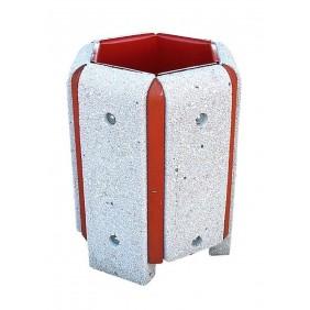 Kosz betonowo-drewniany kod: 122