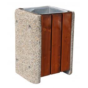 Kosz betonowo-drewniany kod: 124