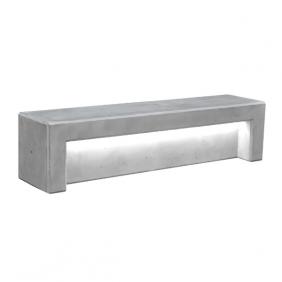 Ławka z betonu archit. z podśw. LED 200x48x50 kod: 480