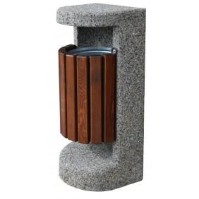 Kosz betonowo-drewniany kod: 135