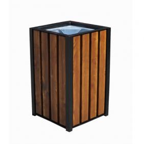 Kosz metalowo-drewniany 70l. kod: 161