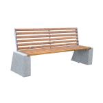 Ławki betonowe z oparciem
